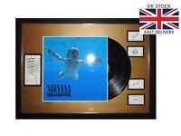 "NIRVANA Nevermind Framed 12"" VINYL LP✅Tickets & Band Autographs MEMORABILIA  ✅"