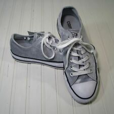 New Converse Gray Silver Velvet Low Top All Stars Sneakers 7 M LAST ONE