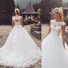 HOT Stock White/ivory Wedding dress Bridal Gown Stock Size 6-8-10-12-14-16-18+++