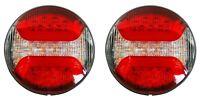 2x LED Rund Rückleuchte Bremslicht 12/24V E. Prüf 122mm Durchmesser LKW Anhänger