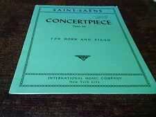 Saint saens concert piece for horn and piano score sheet music