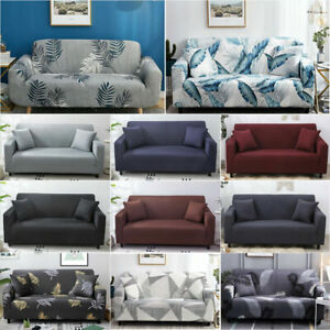 Sofa Covers 1/2/3/4 Seater High Stretch Lounge Slipcover Protector Couch Cover E