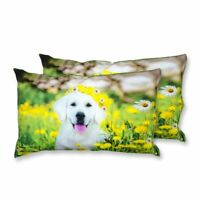 Coppia Federe Per Guanciale Puppy Flowers I Love Sleeping Stampa Digitale 3D ...
