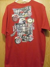 Leesburg Fl. festival of bikes 2013 men's graphic motorcycle t shirt XL red