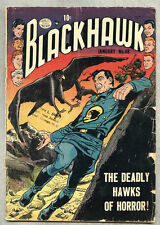 Blackhawk #48-1952 gd Crandall includes infamous story swiped for Sub-Mariner