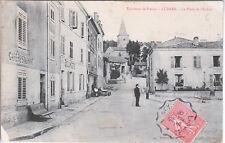 LUDRES, MEURTHE ET MOSELLE. CP utilisée en 1906. Place et rue de l'église