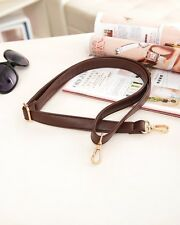 Brown PU leather unisex handbag strap 2.5cm width shoulder messenger belt 130cm