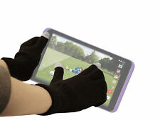Large Touchscreen Winter Gloves For Tesco Hudl 2 w/ Soft Rubber Tip