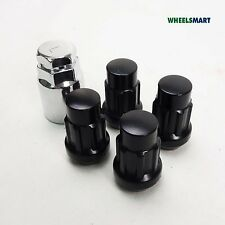 4+1 Key For Holden, Benz, BMW Wheel Black Lock Nuts 14x1.5