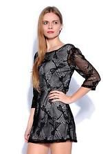 Round Neck 3/4 Sleeve Polyester Paisley Dresses for Women