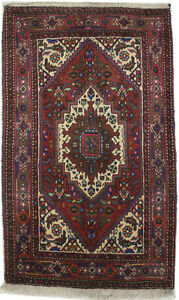 Red Classic Floral Design Vintage Style 2X3 Small Oriental Rug Handmade Carpet
