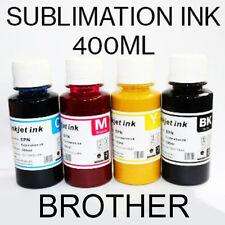 4 inchiostro di sublimazione del colore impostato per BROTHER Stampanti 400 ML CMYK il trasferimento di calore 100 ML