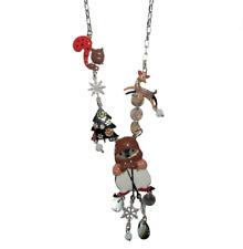Fir - Squirrel - Ski - Pole North Lol Bijoux - Necklace Pingouin - Brown -
