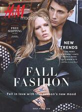 H&M Catalog Fall 2015 EDITA VILKEVICIUTE Anna Ewers DOUTZEN KROES Kati Nescher