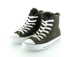 Converse All Star Chuck Taylor Hi Charcoal Leather gefüttert  Gr. 37,5