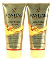 2 Pantene Pro V 6 Oz Gold Series Infused With Argan Oil Finish & Shine Cream