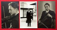 3 x Foto Leipzig MUSIKER Ingolf Brinkmann mit Geige später Professor  ( 8616
