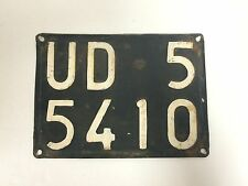 Original Udine Italy Automobile License Plate Metal -USED- #F-61