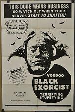 VOODOO BLACK EXORCIST 1974 ORIG 27X41 MOVIE POSTER ALDO SAMBRELL TANYEKA STADLER