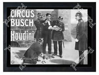 Historic Circus Bush, with Harry Houdini, Ca 1900 Advertising Postcard