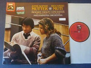 NM MOZART - VIOLIN CONCERTOS 2 & 4 LP, A.S Mutter, Riccardo Muti, EMI ASD 4185