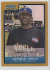 2006 Bowman Draft Chrome Futures Game Gold Refractor /50 Joaquin Arias #FG40