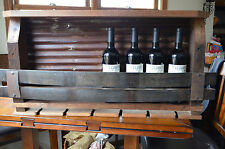 Barn wood  Wine rack - with  Tin backing and Whiskey staves