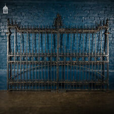 More details for pair of 19th c wrought iron ornate gates with scroll design