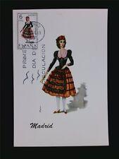 SPANIEN MK 1969 TRACHTEN MADRID COSTUMES MAXIMUMKARTE MAXIMUM CARD MC CM c5503