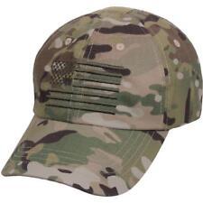 Tactical Cap Operator Hat Ballcap Multicam Camo USA Flag Rothco 4363 cee1dc0089f