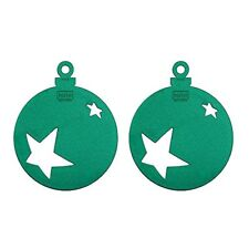 Koziol Set of 2 Stars Christmas Ornament - Green