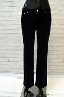 Pantalone ROCCOBAROCCO Donna Taglia Size 44 Pants Woman Jeans Lana Blu
