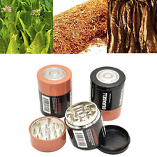 3 Layer battery tobacco grinder herbal herb smoke spice crusher hand BH
