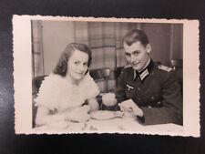 Original German WW2 Army Officer with Wife Photo Portrait - Offizier Foto 2.WK!