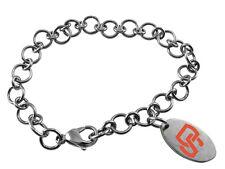 OREGON STATE BEAVERS OSU * Stainless Steel Logo Charm Bracelet  New NCAA Jewelry