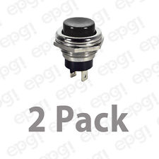 SPST (N/O) MOMENTARY ON BLACK PUSH BUTTON SWITCH 4AMPS @ 125VAC #66-2423-2PK