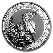 1997 1 oz Silver Australian Kookaburra Coin - Brilliant Uncirculated -SKU #10162