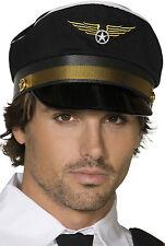 Piloten Mütze Deluxe NEU - Karneval Fasching Hut Mütze Kopfbedeckung