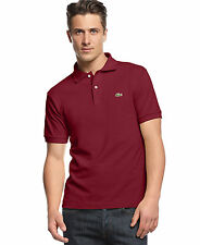 Lacoste Classic Fit Pique Polo Bordeaux Shirt XS $89