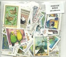 """Lot 200 timbres thematique """" Oiseaux"""""""