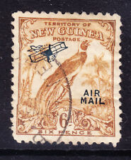 More details for new guinea 1932 sg197 6d bistre-brown no date opt air mail very fine used cat£15