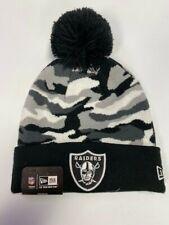 New Era NFL Oakland Raiders Camo Captivate Winter Pom Pom Beanie Cap Hat NWT