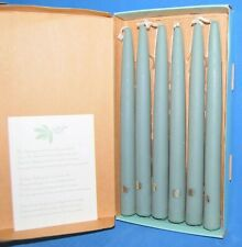 """PartyLite Handipt Unscented Bayberry Taper Candles Hand-Dipped 10"""" Lot of 6"""