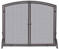 Uniflame SINGLE PANEL BRONZE FINISH SCREEN WITH DOORS S-1632 Fireplace Screens