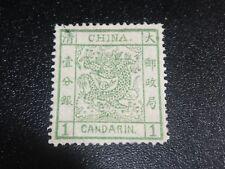 China 1878 Sc#1 1c Large Dragon Original Gum Mint Nh Xf