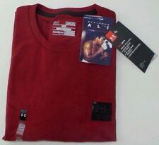 Under Armour Hombre Camiseta Rojo Medio Negro Muhammad Ali CUERDA A DOPE NUEVO