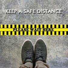 Social Distancing Safety Sign Public Area Wait Here Floor Crowd Control Tyjca