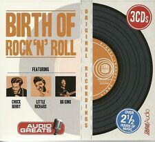 BIRTH OF ROCK 'N' ROLL - 3 CD BOX SET - CHUCK BERRY * LITTLE RICHARD & BB KING