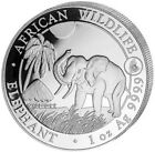 2017 1 Oz Silver 100 Shillings Somalia AFRICAN ELEPHANT With Rooster Privy Coin.