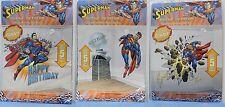 3-SET SUPERMAN SCENE SETTERS Wall Decoration Birthday Party Kids Add-ons Boy NEW